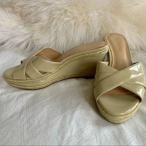 Bandolino Sandals Beige NWT. Size 7.